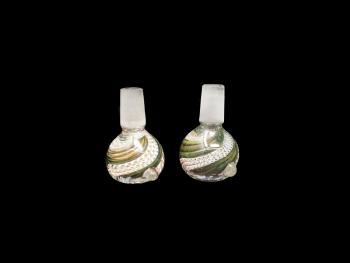14 MM GREEN-WHITE ART HANDMADE BOWL