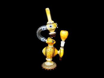 """11""""-520 Gr. HAND MADE MICROSCOPE WATER PIPE"""