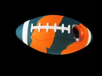 "4"" SILICONE FOOTBALL/ MIX COLOR"