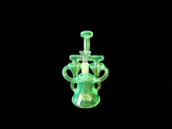 """8""""/330 Gr. RECYCLER WATER PIPE NEON GLOW"""